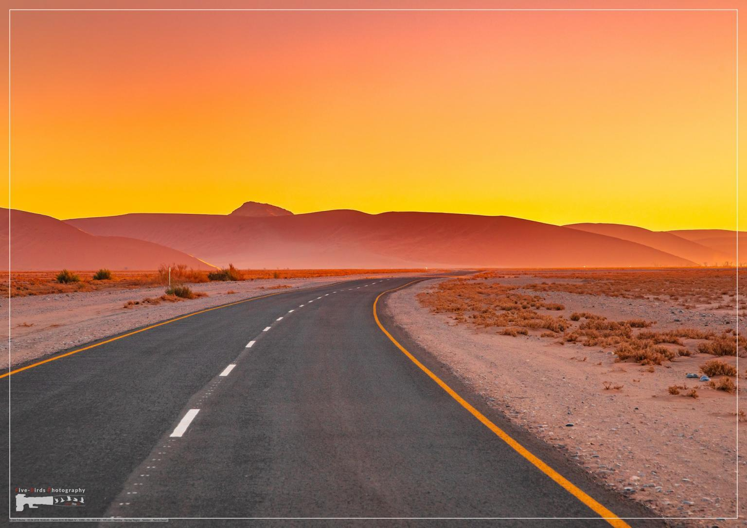 Mountains of the Namib Desert in the sunset in Sossusvlei in Namibia