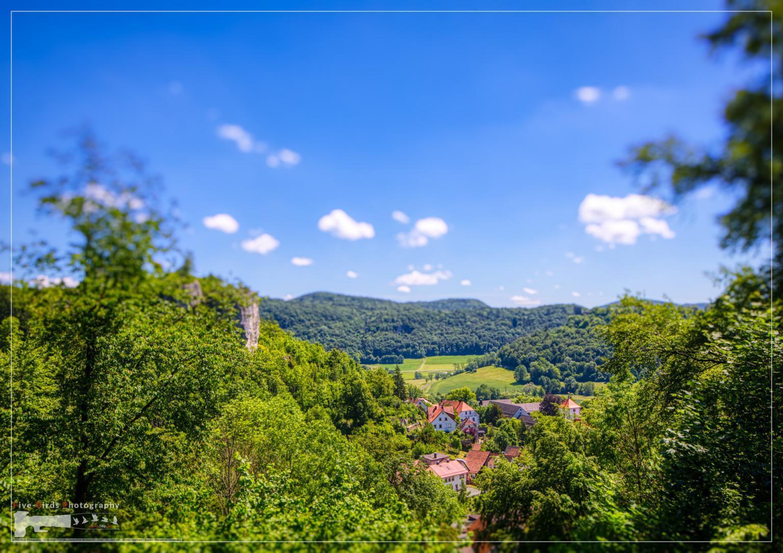 Landscape shot of the Franconian Switzerland near Streitberg