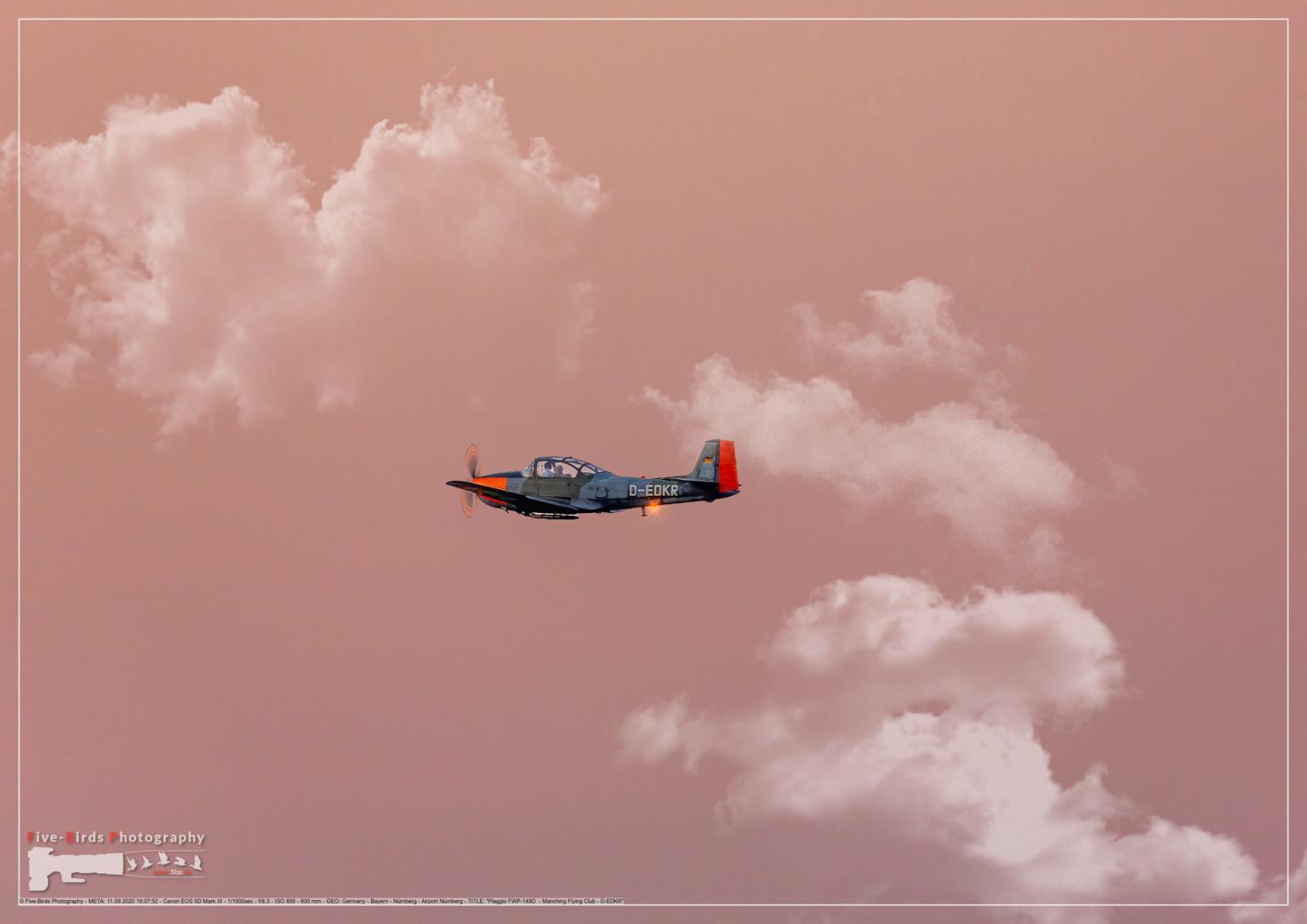 Piaggio FWP-149D - Manching Flying Club - D-EDKR